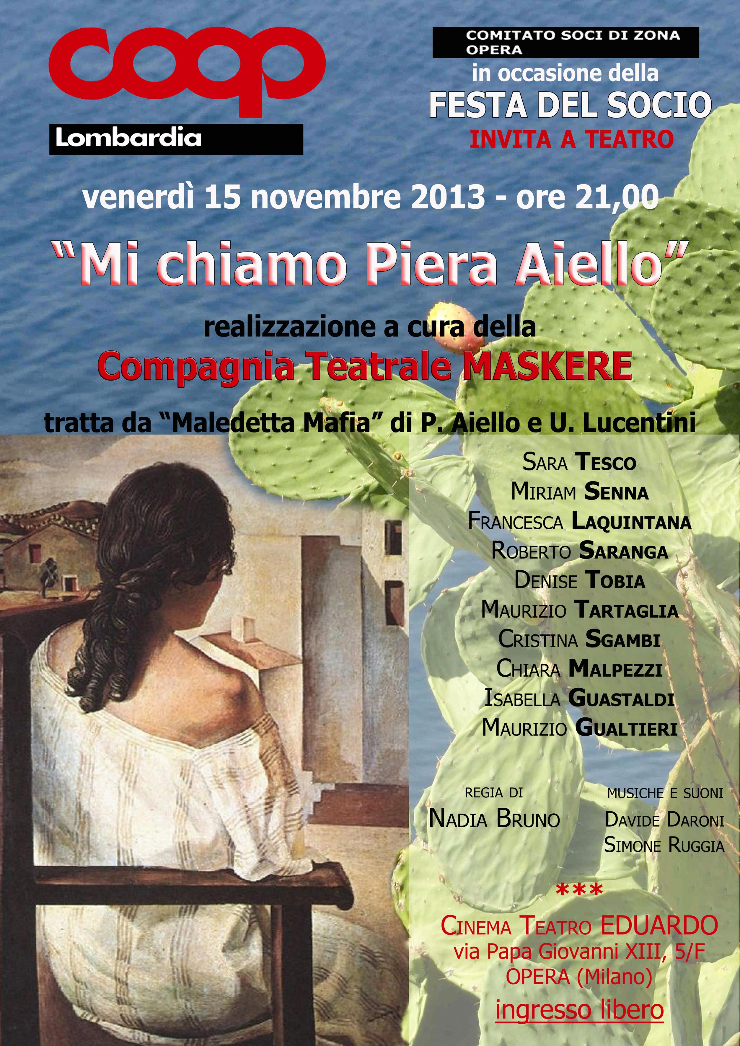 Mi chiamo Piera Aiello 15 11 13 Opera
