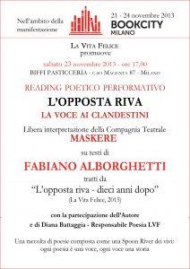 L'opposta riva 23 11 13 Milano BookCity