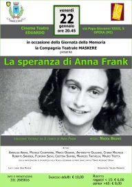 La speranza di Anna Frank 22 1 16 Opera Locandina