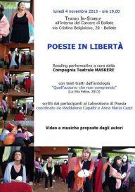 Poesie in libertà carcere Bollate 4 11 13 Bollate Locandina