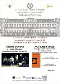AAA Europa cercasi - Monza - 22/3/15 - locandina