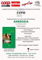 """""""Ambrosia"""" reading poetico 19/9/2015 Milano"""
