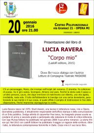 Corpo mio di Ravera 20 1 16 Opera - Locandina