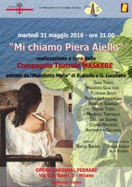 Mi chiamo Piera Aiello 31 5 16 Milano - Locandina