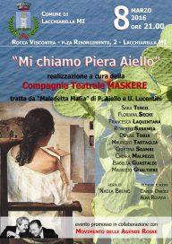 Mi chiamo Piera Aiello 8 3 16 Lacchiarella - Locandina
