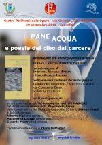 Pane, Acqua e poesie sul cibo dal carcere di Opera 30/9/2015