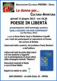 Poesie in libertà - Opera 13.6.13 - Locandina