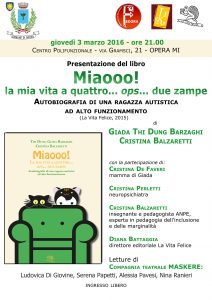 Autismo 3 3 16 Opera - Locandina