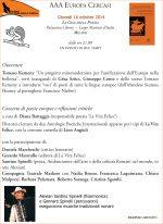 AAA Europa cercasi 16/10/2014 Milano