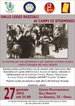 ... ai campi di sterminio 27/1/2015 Opera