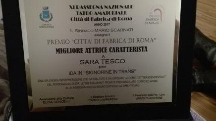 premio città Fabrica di Roma Sara Tesco