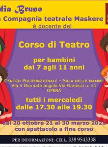 Corso di teatro bimbi 7/11 anni – Polifunzionale Opera – ott/marzo 2022